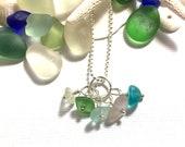 Colors Sea Glass Necklace Garden Leaf Seaside