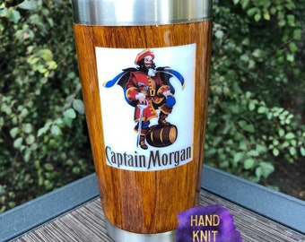 214c5031fcf Captain Morgan Wood Grain Lowball Tumbler