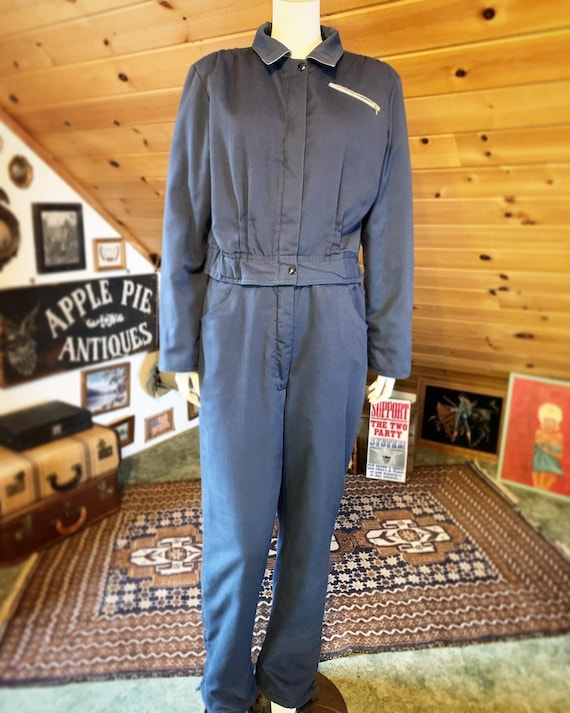 1940s style vintage blue 2 tone insulated snow cov