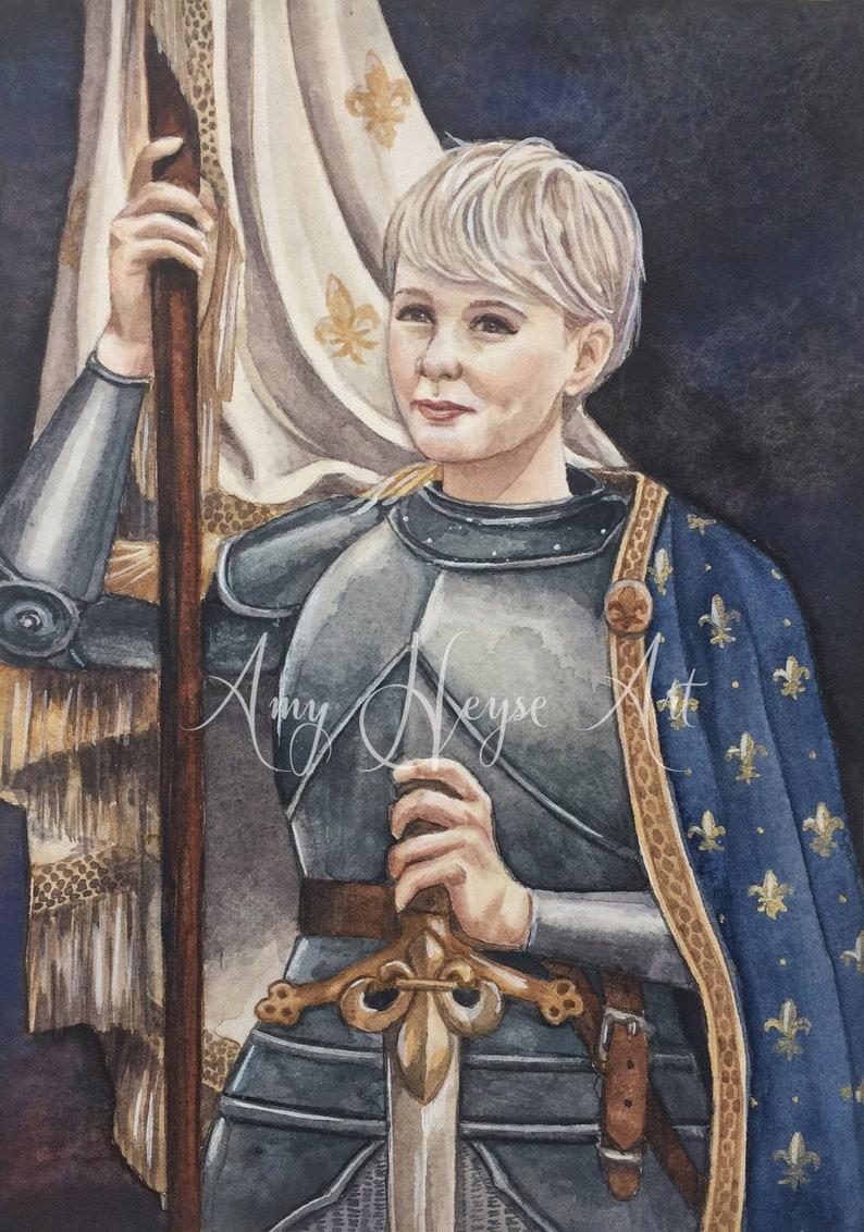 Joan of Arc ACEO/ATC Premium Fine Art Mini Print Artist | Etsy