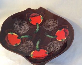 Ceramic dish inspired by 60s 'vallauris ' design