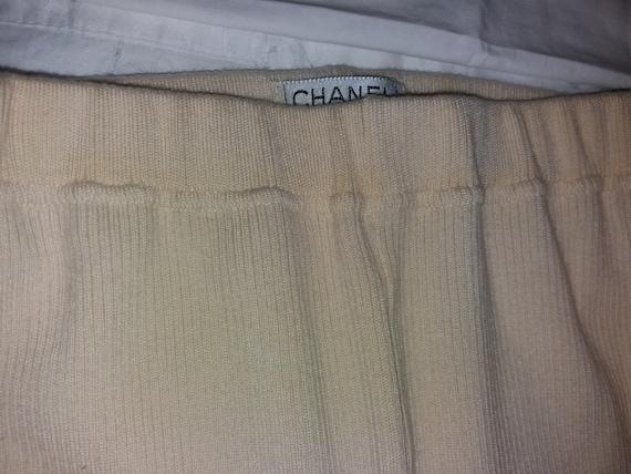 Authentic Chanel Vintage Wool knit Leggings pants… - image 7