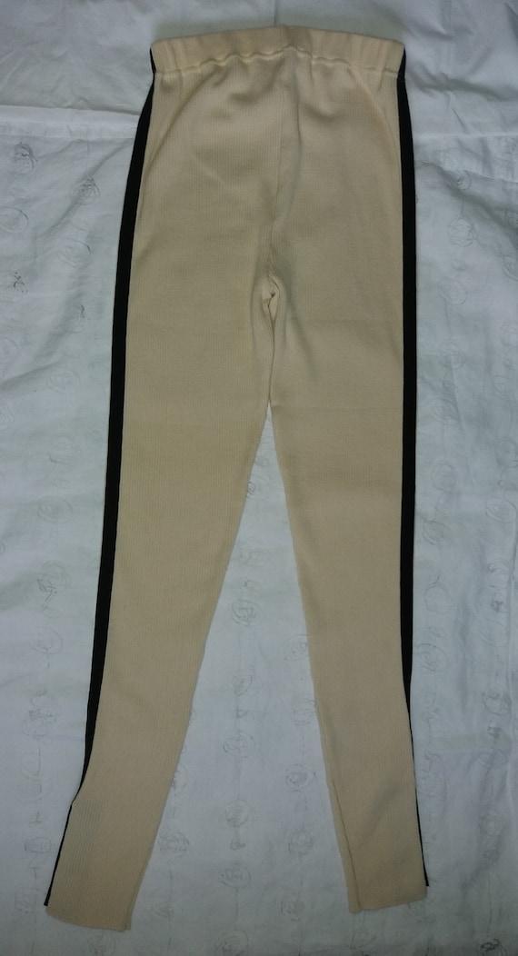 Authentic Chanel Vintage Wool knit Leggings pants… - image 2
