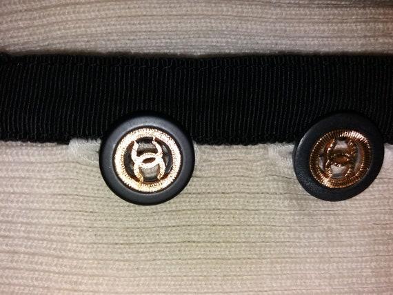Authentic Chanel Vintage Wool knit Leggings pants… - image 8