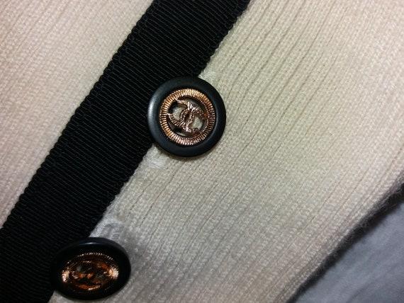 Authentic Chanel Vintage Wool knit Leggings pants… - image 9