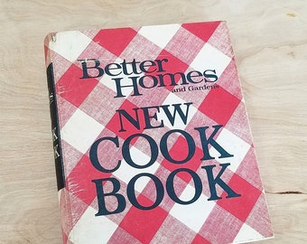 Mid Century Cookbook Better Homes and Gardens New CookBook Mid Century Kitchen Homes and Gardens Cook Book 1960's Cookbooks 1960's Kitchen
