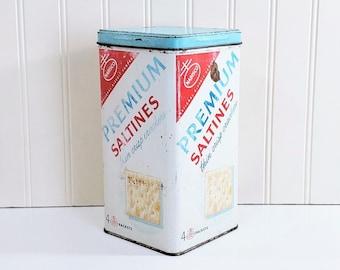 Shop Display Tin Gift for Her Nabisco Tin Crackers Tin Kitchen Decor Advertising Tin Collectible Tin Tin Canister Vintage Tin