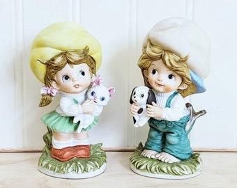 Musical Angels SKU wall-00011266 VINTAGE: 3 Christmas Bisque Porcelain Angel Ornament Christmas Holiday