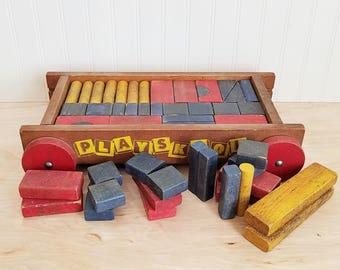 Vintage Wood Blocks Etsy
