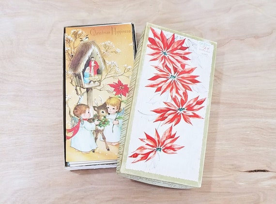 Boxed Christmas Cards.Vintage Mid Century Christmas Cards With Envelopes Boxed Christmas Cards Unused New Old Stock Christmas Cards 1960 S Christmas Cards
