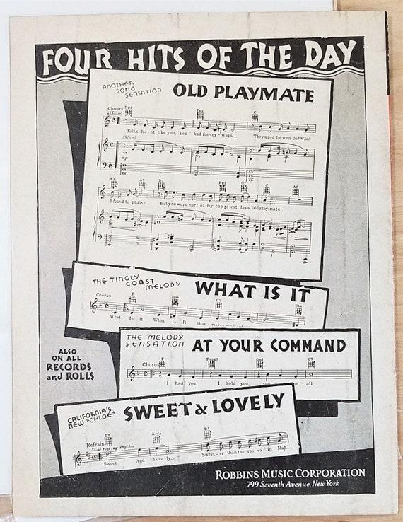Vintage Sheet Music Books Rudy Vallee Good Night Sweetheart Popular Songs Magazine Music Magazine Hollywood Regency Decor 1930s Sheet Music