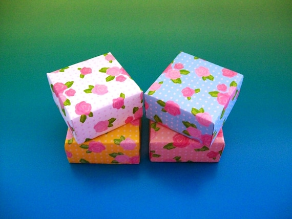 4 Origami Boxes Gift Boxes Decorative Boxes Party Favor Etsy