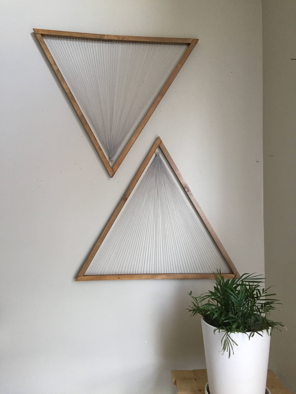 Medium 24 Triangles, set of 2, Ebonizer stained frame with light ...