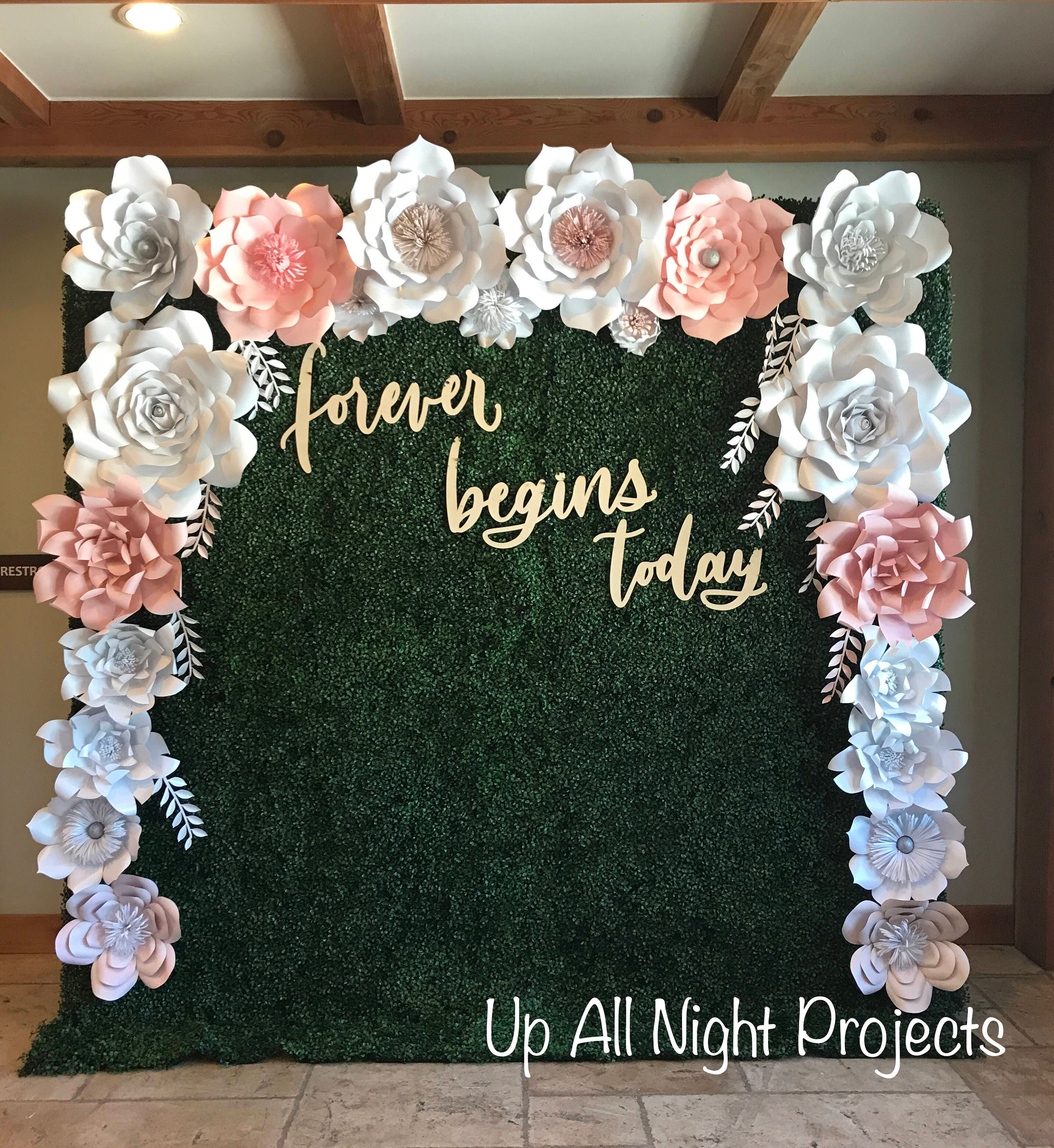 Paper Flower Backdrop Or Wall Decor Giant Paper Flowers