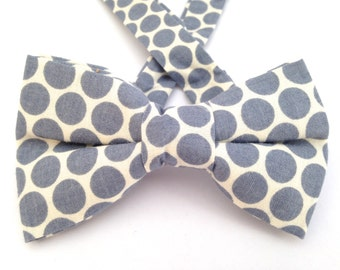 Gray polka dot bow tie. Business bow tie, business tie, gray polka dots tie, polka dot bow tie, bow tie, gray bow tie, gray polka dot.