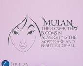 items similar to mulan wall decal disney quotes mulan decal