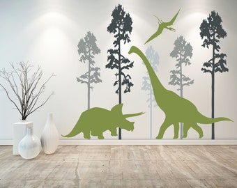 FULL Trex Colorful T-Rex Stickers Dino Decals Kids Dinosaur Decor FULL/_Trex/_49/_Bronto/_28/_Pter/_22 DINO TRL