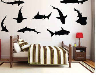 Popular Items For Shark Wall Sticker