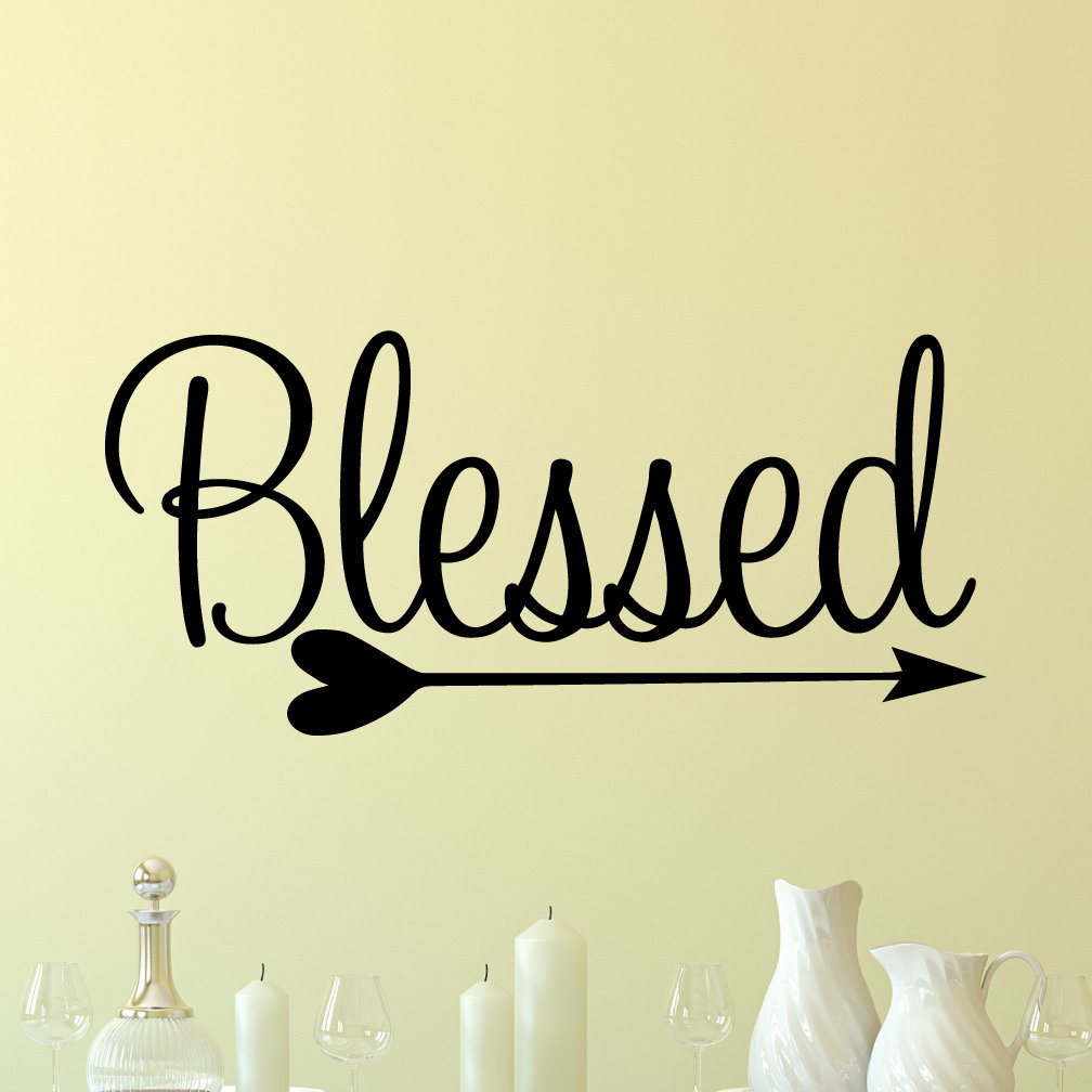 Blessed Decal Blessed Vinyl Wall Decal Blessed Decor   Etsy