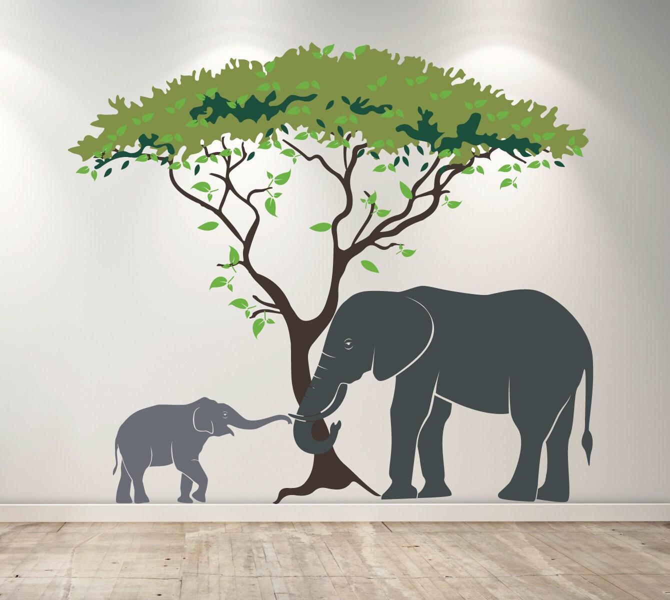 Elephant Wall Art Decor Decal Nursery Wall Decor D00576