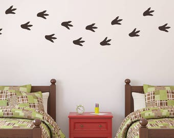Dinosaur Footprints, Dinosaur Footprints Wall Decal Set, Dinosaur Tracks, Dino Tracks Decal, Dinosaur Wall Decal, Dinosaur Decal, D00611
