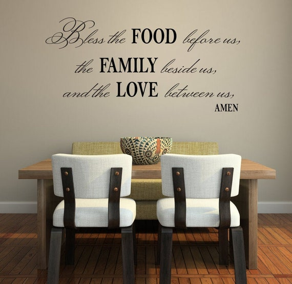 Kitchen wall decor Christian wall art- prayer decal D00091