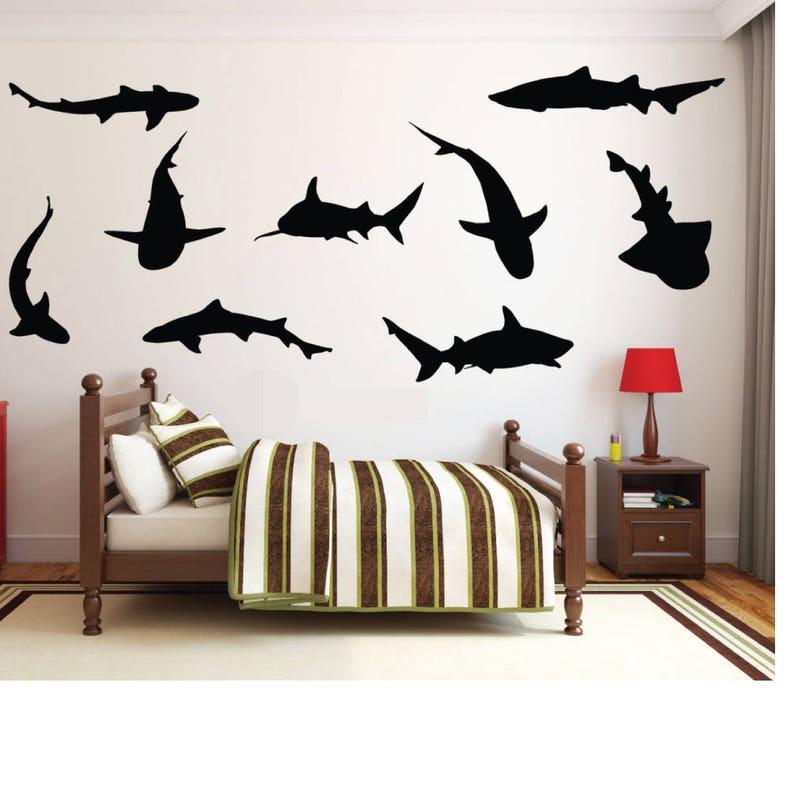 Shark Silhouette Wall Decals