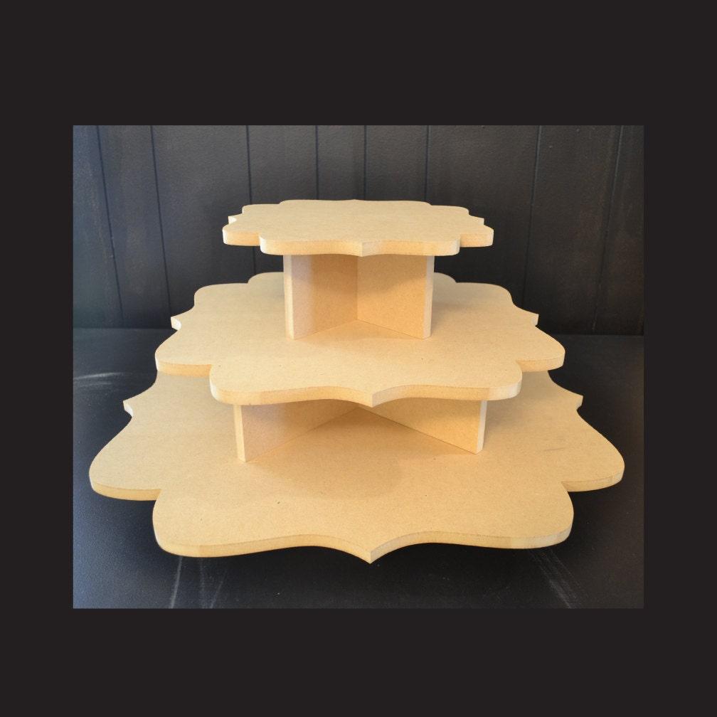 3 tier unpainted cupcake stand cupcake holders cupcake | Etsy