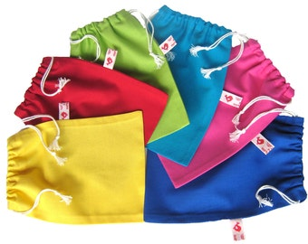 Drawstring cotton fabric bags 54 colours and 5 sizes to choose.