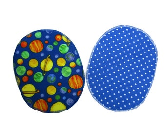 """2 Patches """"Planets"""" / Double pack Knee patches/Elbow applique patches iron on, sew on patches"""