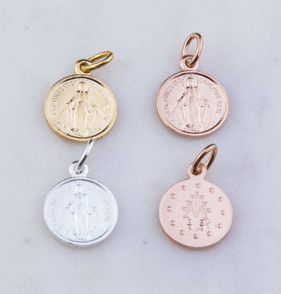 Solid 925 Sterling Silver Oval Pendant Antiqued Miraculous Medal 29mm x 22mm