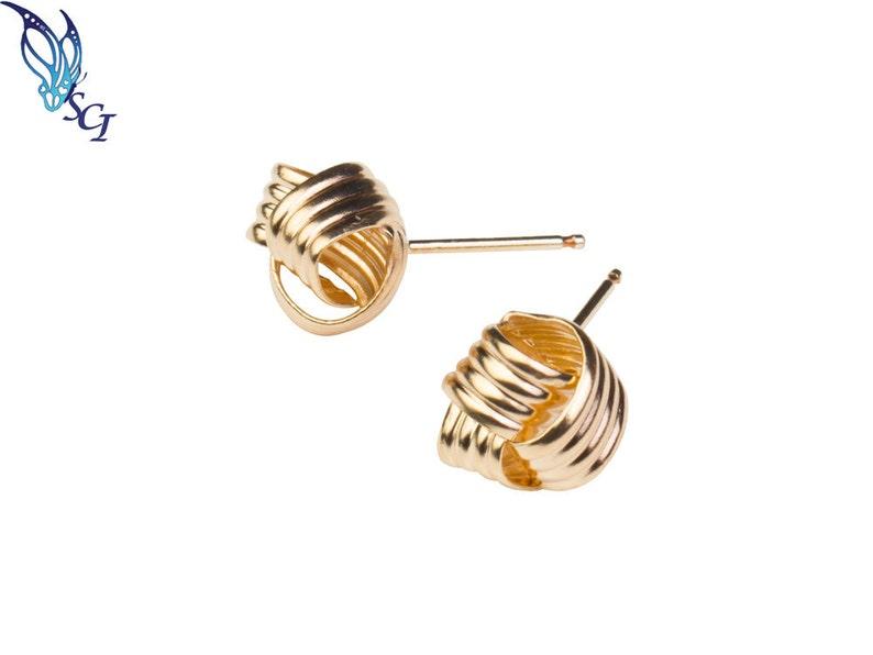 d3dd7ce62 Gold Filled Knot Earrings Ear Post Studs Gold Earrings   Etsy