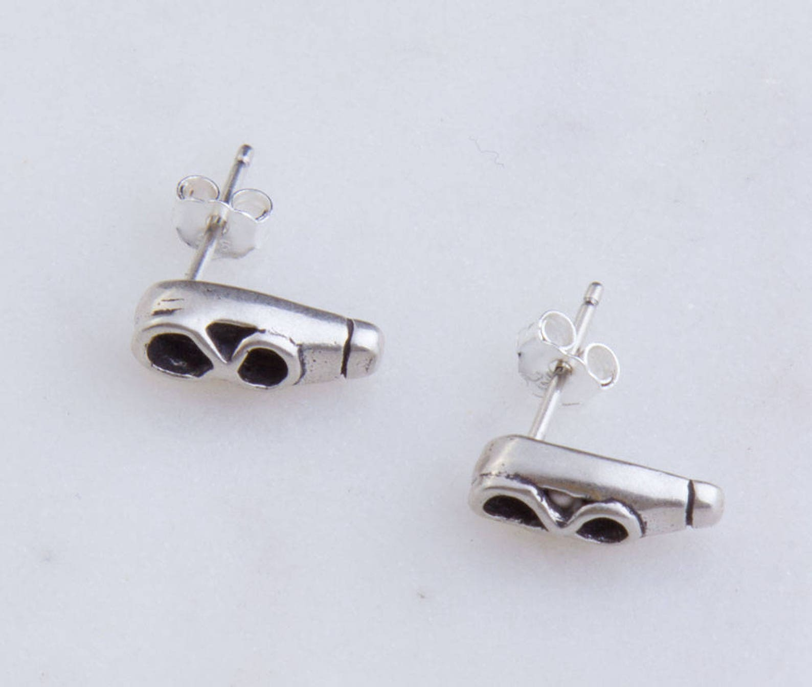 sterling silver small ballet shoe stud earring component, priced per pair, ballet jewelry, gift for her, stud earring component,
