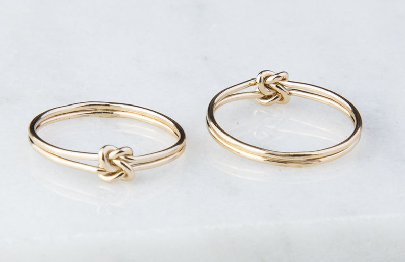 Gold Filled Double Knot Ring in sizes 5 6 7 8 Everyday image 0