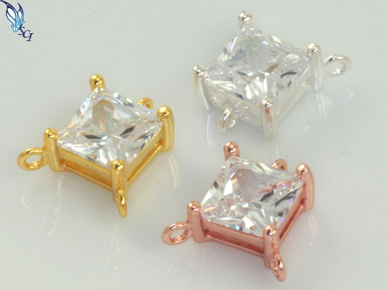 Geometric Charm Silver Copper AntiqueShiny Brass Rhomb 21x19mm with loop JBB Finding QFMarket 5pcs Brass Square Pendant Gold plated