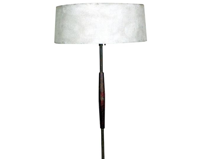 Mid-Century Floor Lamp by Gerald Thurston Lightolier Brass Teak