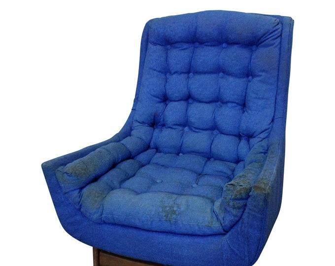 Vintage Mid-Century Danish Modern Kroehler Attributed Lounge Chair