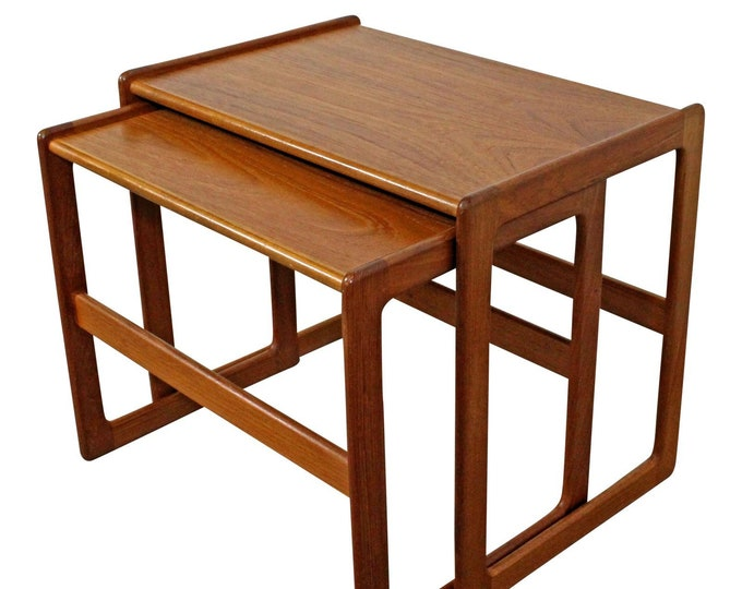 Pair of Mid-Century Danish Modern Teak Nesting Tables/End Tables