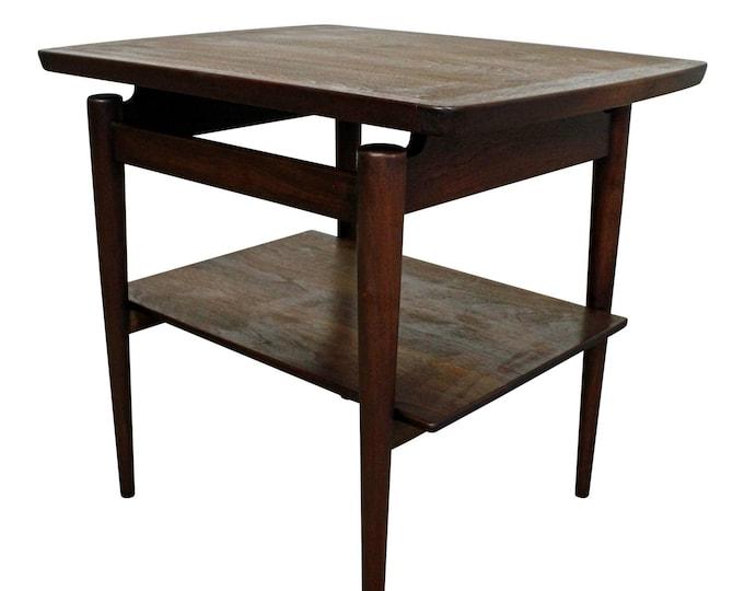 Jens Risom End Table Mid Century Danish Modern
