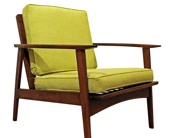 Mid-Century Lounge  Chair Open Arm