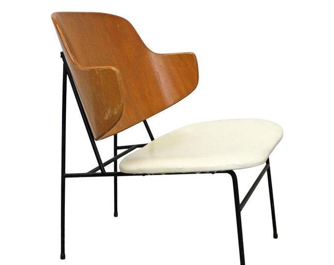 Vintage Mid-Century Modern/Danish Modern IB Kofod Larsen Selig Penguin Chair, Accent Chair, Lounge Chair, Dining Chair