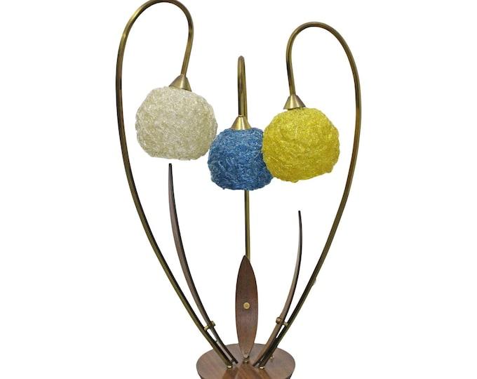 Mid-Century Modern Spaghetti Lamp Flower Table Lamp Fiberglass