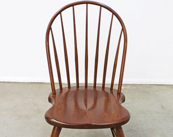 Traditional Duckloe Bros Cherry Hoop-Back Windsor Side Dining Chair