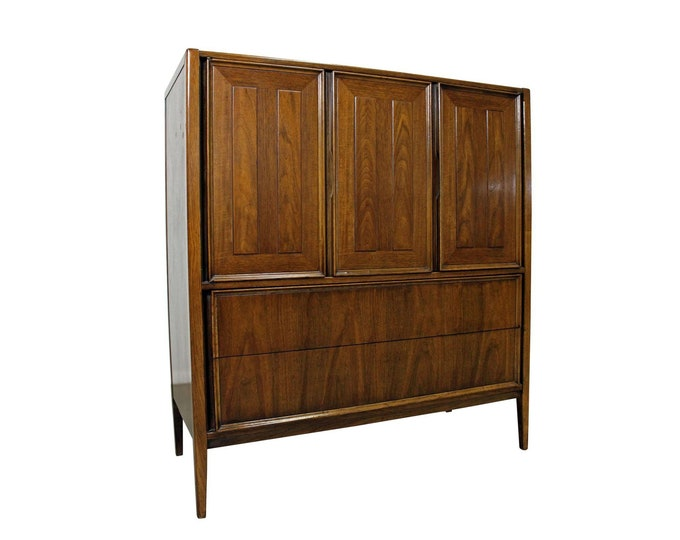 Mid-Century Danish Modern Walnut Tall Chest/Armoire Dresser