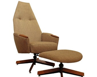 Mid-Century Modern Adrian Pearsall Lounge Chair & Ottoman 2174C