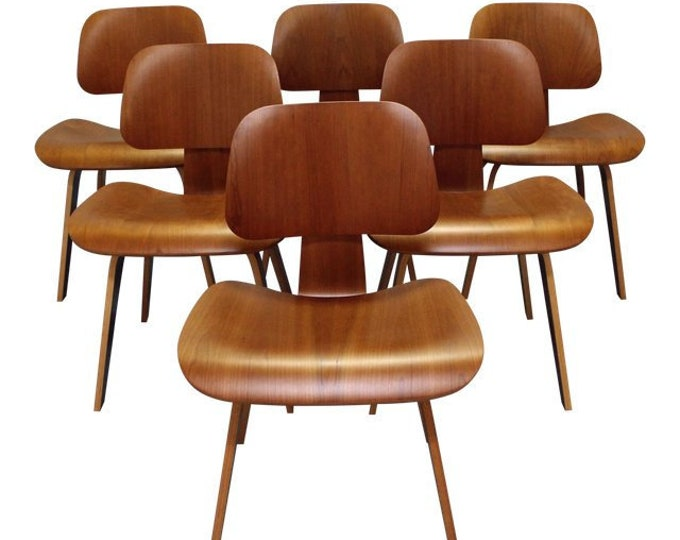 Set of 6 Mid-Century Modern Herman Miller Eames Molded Plywood Dining Chairs