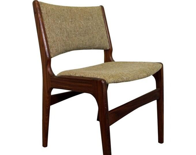 Mid-Century Chair, Danish Modern Teak, Henning Kjaernulf, Side Chair, Dining Chair