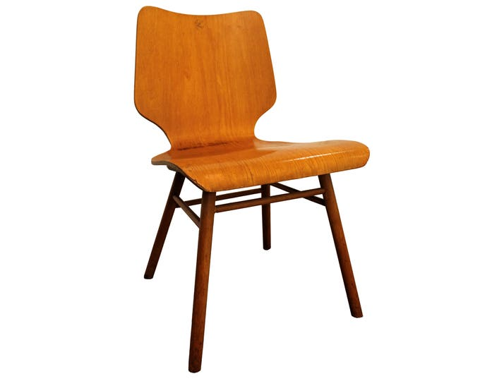 Mid Century Danish Modern Bentwood Eames Era-Style Plyform Side/Accent Chair
