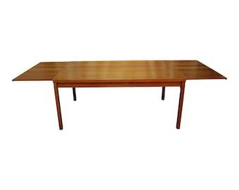 Mid-Century Danish Modern Extendable Teak Dining Table