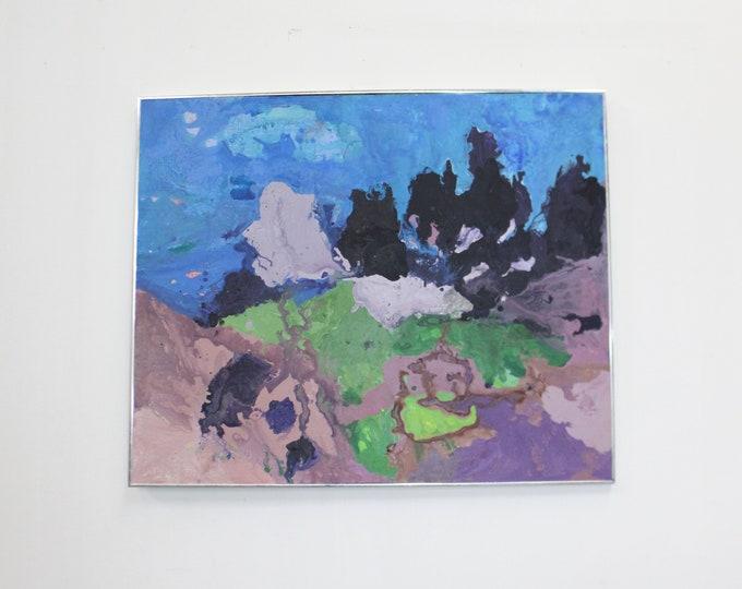 """Mid Century Modern  Abstract Oil on Canvas """"Kokee"""""""